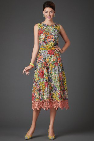 Платье Клумба